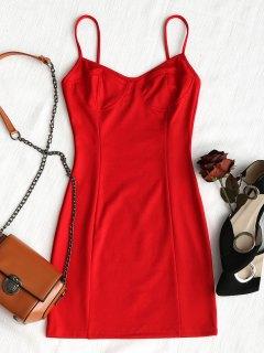 Slip Club Bodycon Dress - Red Xl