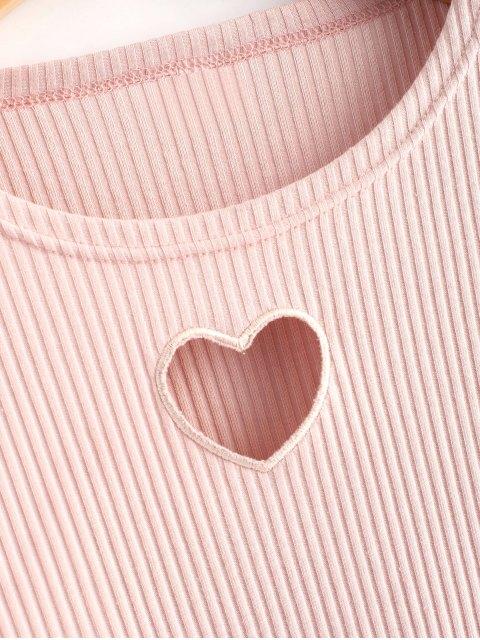 Top recortado en forma de corazón recortado - Rosado XL Mobile