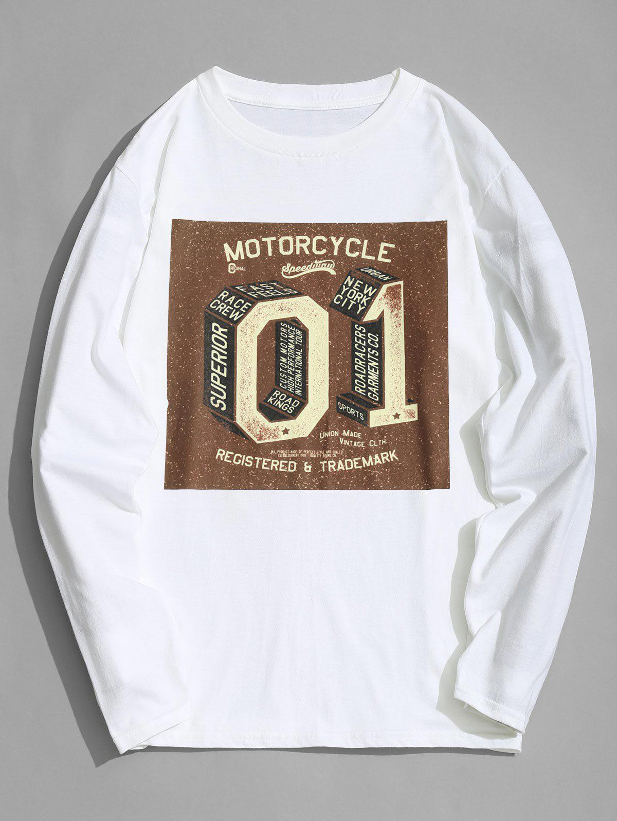 Motorcycle Graphic Long Sleeve T shirt 255229401