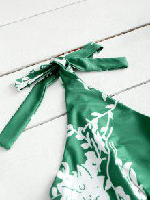 Mini Claro De Verde L Alta Cintura Vestido Abierta Floral raq0rf