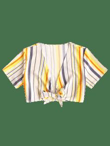 Zaful yellow blouse stripe