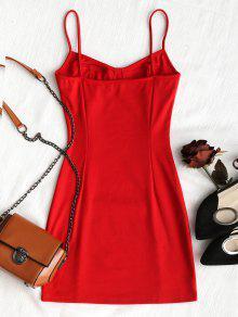Rojo Club De Vestido Slip S Ajustado 7z0wxH