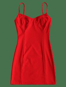 Ajustado Club Slip Rojo Vestido S De 7qdwBBZf