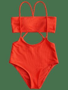 b98c9ccd5f14f 44% OFF   HOT  2019 Bandeau Top And High Waisted Slip Bikini Bottoms ...
