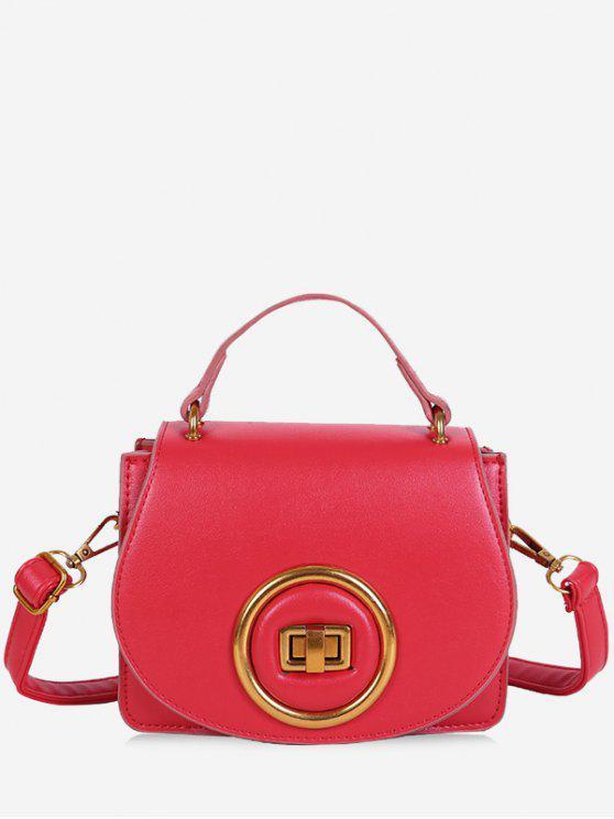 الحد الأدنى جولة دائرة كروسبودي حقيبة - أحمر