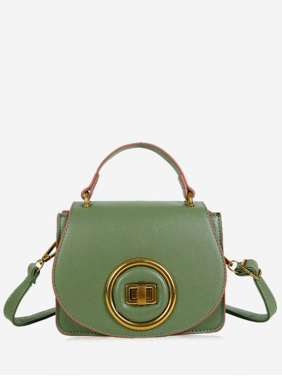 womens Minimalist Round Circle Crossbody Bag - GREEN
