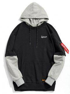 Pouch Pocket Pullover Hoodie Men Clothes - Black L