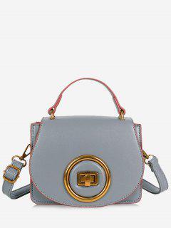 Minimalist Round Circle Crossbody Bag - Gray