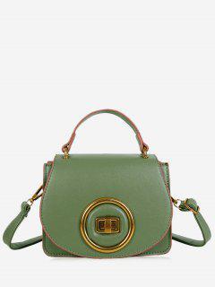 Minimalist Round Circle Crossbody Bag - Green