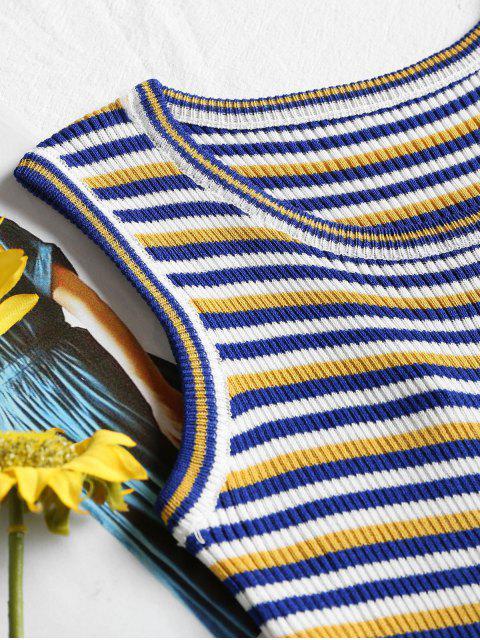 Top de Alças com Nervuras - Amarelo Um Tamanho Mobile