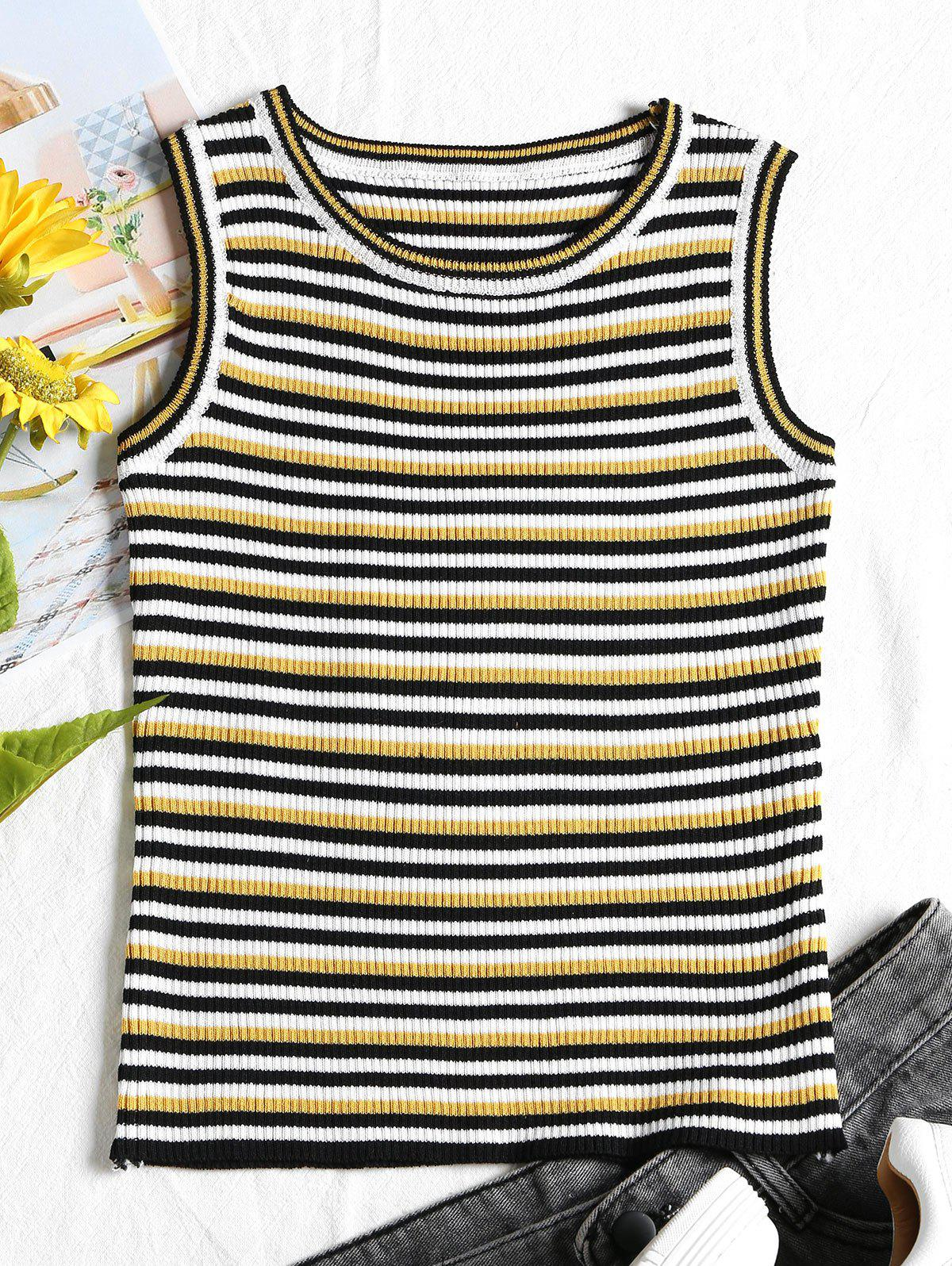 Ribbed Stripes Tank Top 255304102