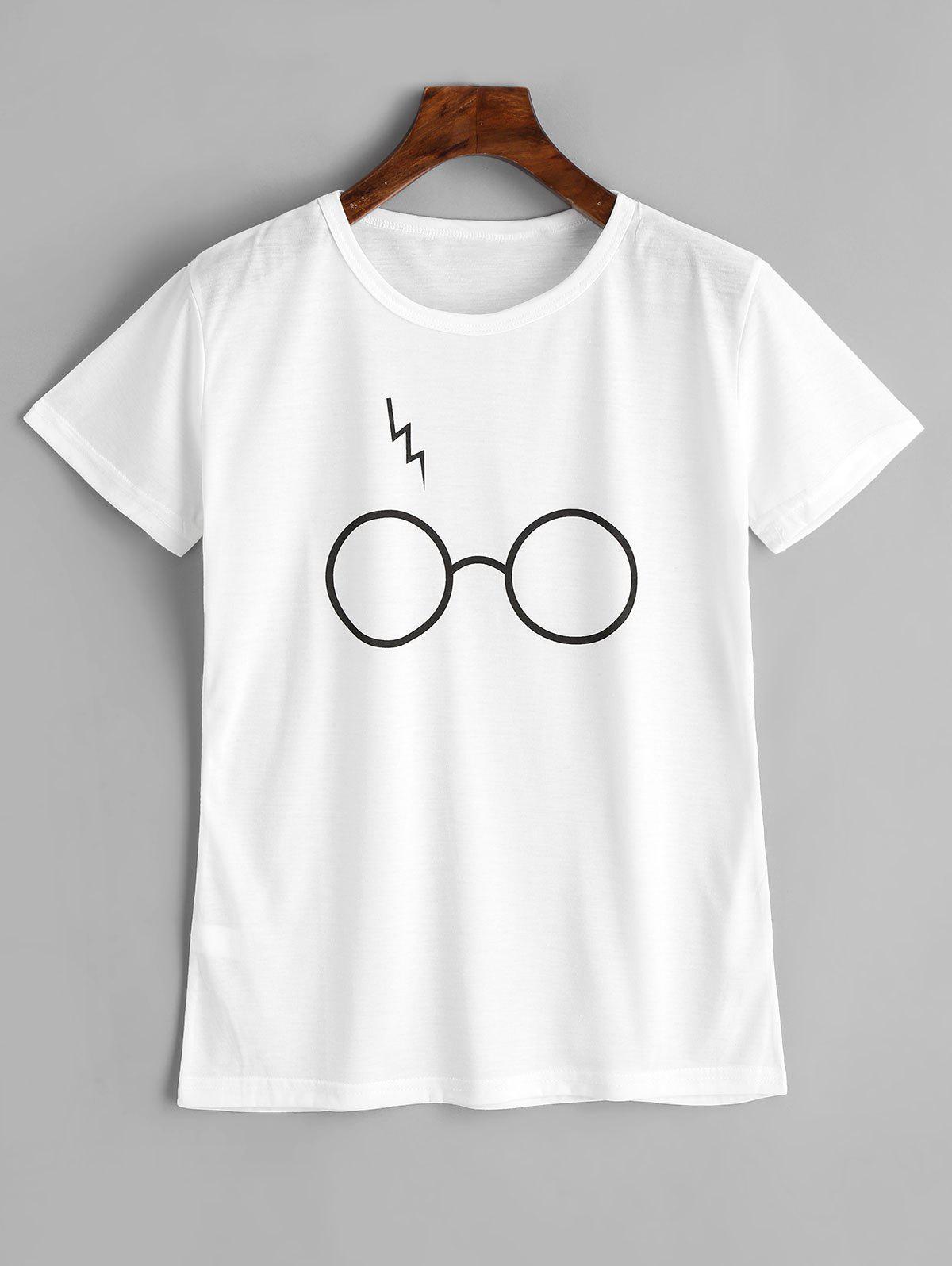 Cute Glasses Graphic T Shirt 255323714
