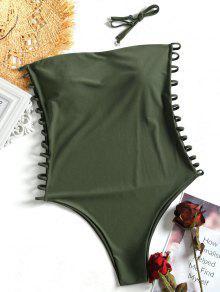 كامي سلم قطع خارج بالاضافة الى حجم ملابس السباحة - الجيش الأخضر Xl