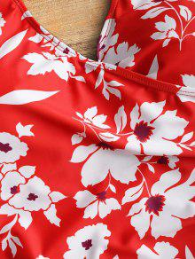 De Cruzado De o Traje Pieza Ba Dise 2xl Floral o Con Rojo Una qtUZwYx