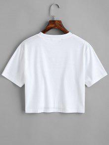 Estampado Del De 243;n Con Camiseta Estampada Letras L Blanco Coraz n0xFZEX