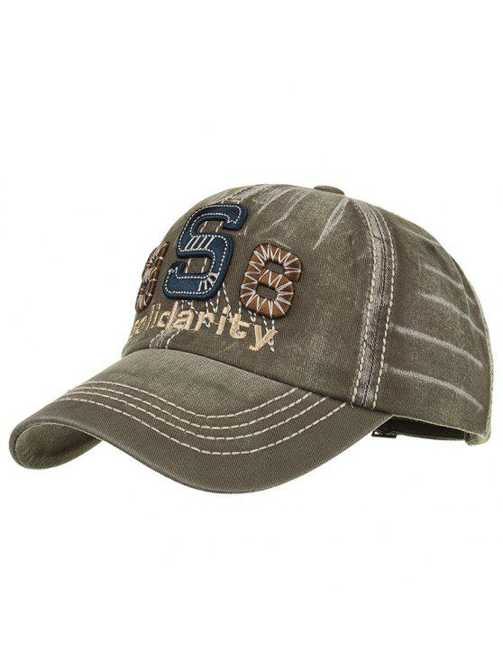 womens Unique Solidarity Embroidery Adjustable Baseball Hat - ARMY GREEN