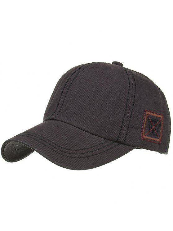 Gorra de béisbol ajustable del bordado W único - GRIS OSCURO