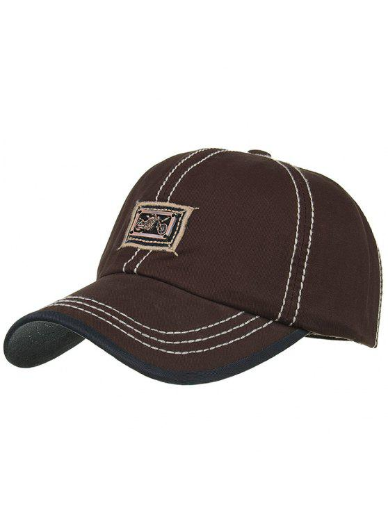 shop Motorcycle Metal Bar Embellished Baseball Hat - CAPPUCCINO