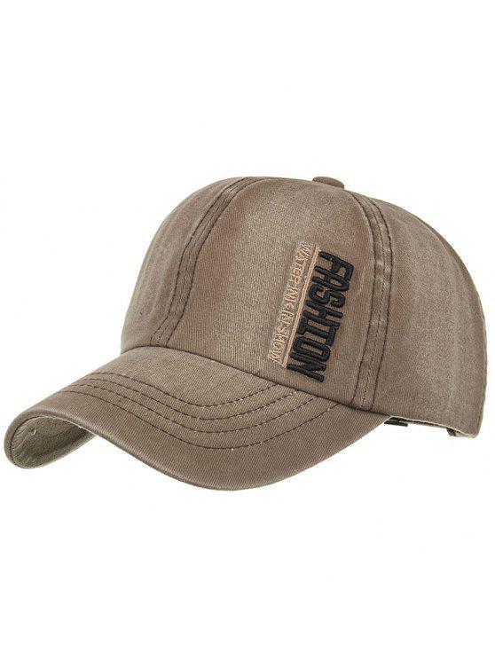 Chapéu de basebol ajustável bordado de moda - Cappuccino