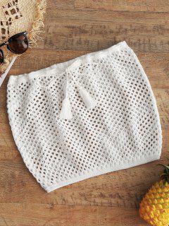 Crochet Tube Beach Top - Blanc