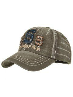 Unique Solidarity Embroidery Adjustable Baseball Hat - Army Green