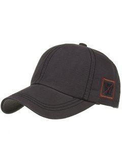 Unique W Embroidery Adjustable Baseball Cap - Dark Gray
