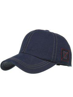 Unique W Embroidery Adjustable Baseball Cap - Cadetblue