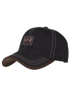 Motorcycle Metal Bar Embellished Baseball Hat - Black