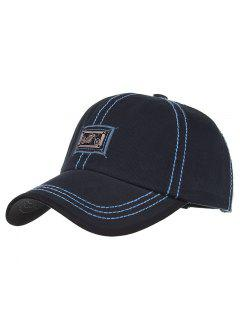 Motorcycle Metal Bar Embellished Baseball Hat - Cadetblue
