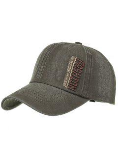 FASHION Embroidery Adjustable Baseball Hat - Army Green