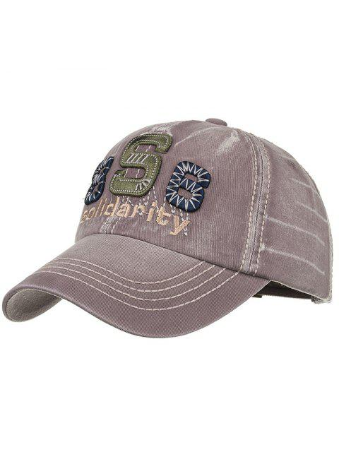 women Unique Solidarity Embroidery Adjustable Baseball Hat - GRAY  Mobile