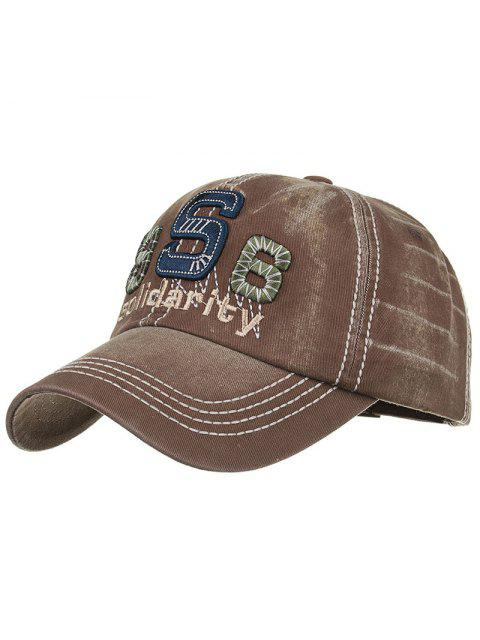 women's Unique Solidarity Embroidery Adjustable Baseball Hat - CAPPUCCINO  Mobile