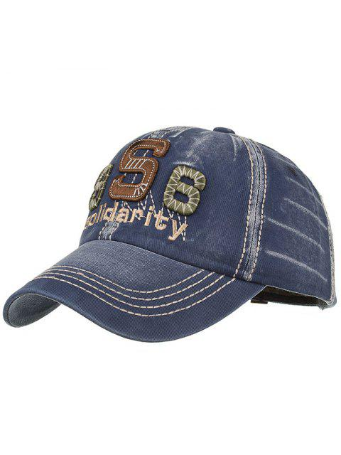 ladies Unique Solidarity Embroidery Adjustable Baseball Hat - CADETBLUE  Mobile