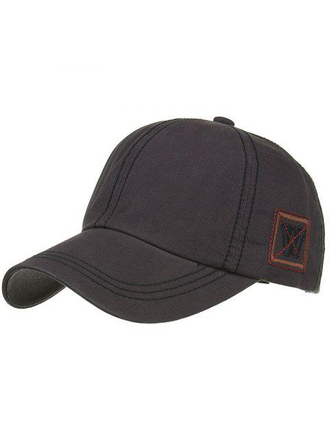 best Unique W Embroidery Adjustable Baseball Cap - DARK GRAY  Mobile