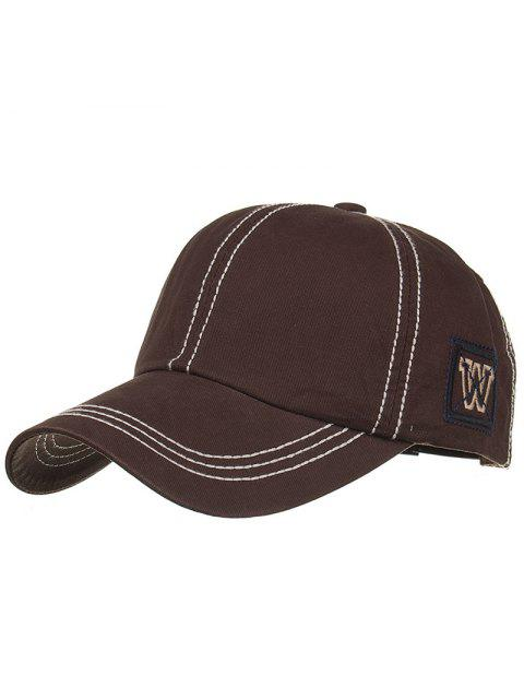 new Unique W Embroidery Adjustable Baseball Cap - CAPPUCCINO  Mobile