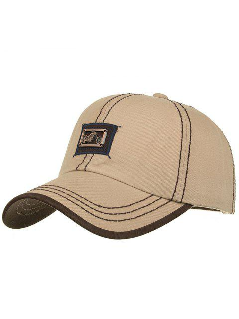 shops Motorcycle Metal Bar Embellished Baseball Hat - KHAKI  Mobile