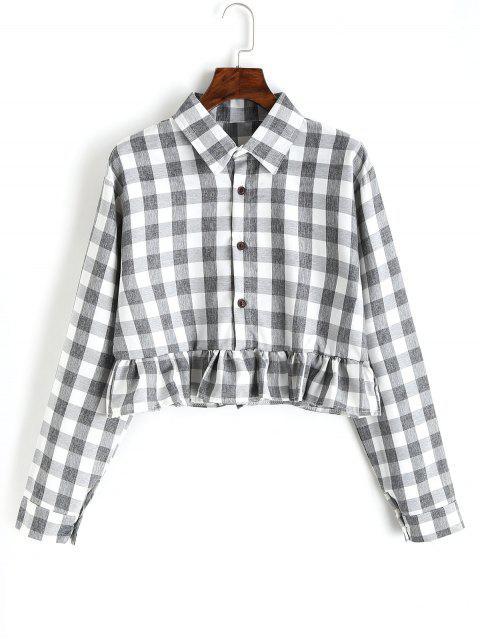 Chemise Boutonnée à Volants à Pois - Carré XL Mobile