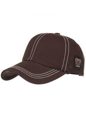 Unique W Embroidery Adjustable Baseball Cap - Cappuccino