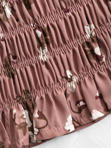 96795f983d ... Shirred Floral Tube Top. latest Shirred Floral Tube Top - BEAN PASTE  COLOR ...