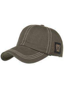 فريدة من نوعها W التطريز قبعة بيسبول قابل للتعديل - الجيش الأخضر