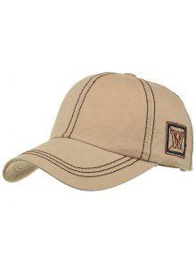 فريدة من نوعها W التطريز قبعة بيسبول قابل للتعديل - كاكي