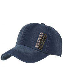 أزياء التطريز قبعة بيسبول قابل للتعديل - طالبا الأزرق