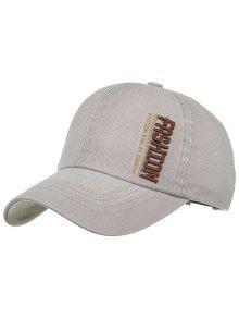 أزياء التطريز قبعة بيسبول قابل للتعديل - رمادي