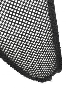 b5240898bd05 22% OFF] 2019 Plunge Fishnet Long Sleeve Bodysuit In BLACK | ZAFUL