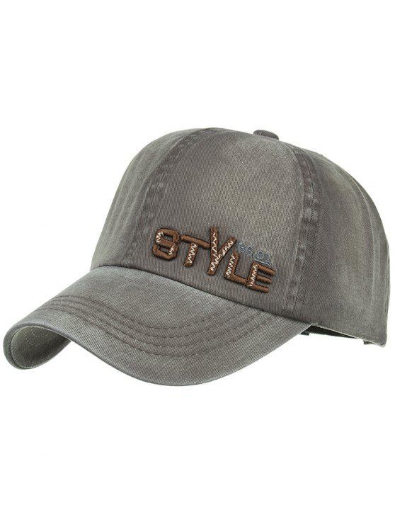 buy Unique STYLE Embroidery Adjustable Baseball Hat - ARMY GREEN