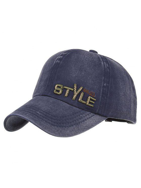 نمط فريد التطريز قبعة بيسبول قابل للتعديل - Cadetblue رقم