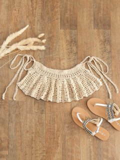 Ties Crochet Cover-up - Apricot