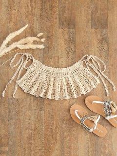 Corbatas Crochet Cover-up - Albaricoque