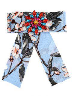 Broche Adornado Con Flores Y Diamantes De Imitación - Lago Azul