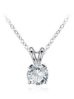 Collar De Clavícula Colgante De Diamantes De Imitación Simple - Plata